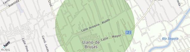Mapa Llano de Brujas