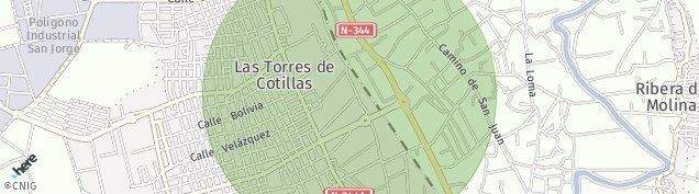 Mapa Los Pulpites