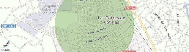 Mapa Las Torres de Cotillas