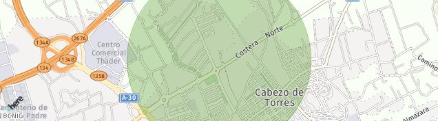 Mapa Churra Cabezo de Torres