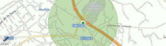 Mapa Puebla de Mula