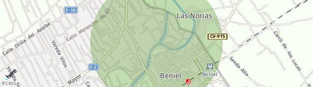 Mapa Beniel