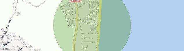 Mapa Camping La Pinada