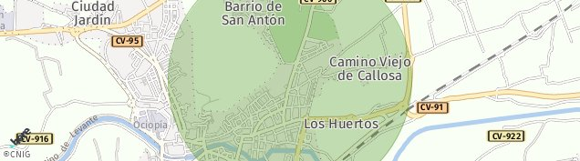 Mapa Los Huertos