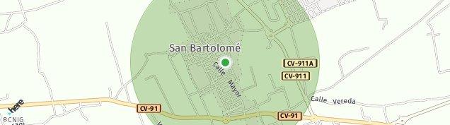 Mapa San Bartolome de Alicante