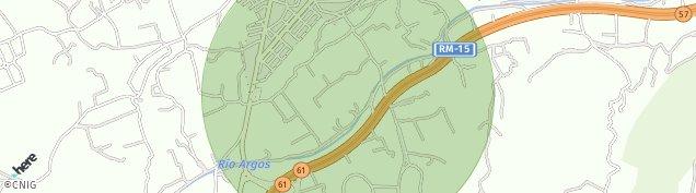 Mapa Caravaca de la Cruz