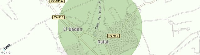 Mapa Rafal