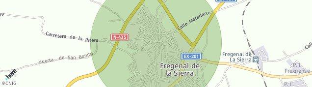 Mapa Fregenal de la Sierra