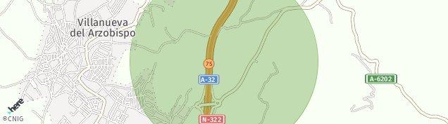 Mapa Villanueva del Arzobispo