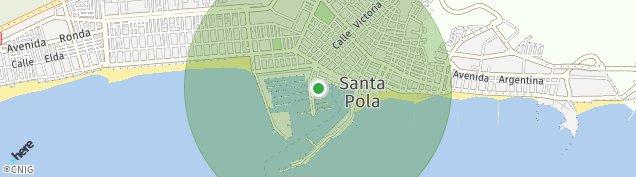 Mapa Santa Pola