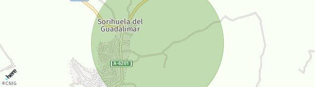 Mapa Sorihuela de Guadalimar