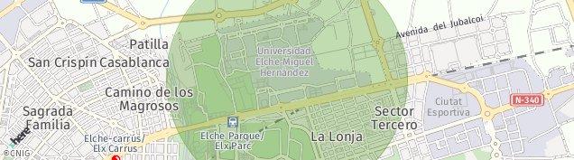 Mapa Poligono Industrial Parque Industrial de Elche