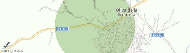 Mapa Oliva de la Frontera