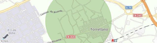 Mapa Torrellano