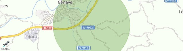 Mapa Puente Genave