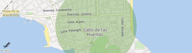 Mapa Cabo de Las Huertas