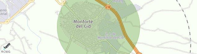 Mapa Monforte del Cid