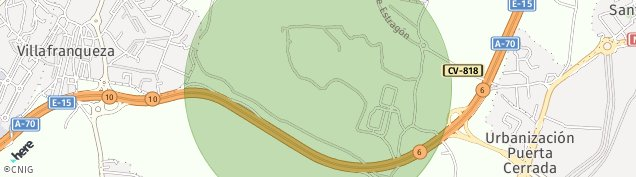 Mapa Villafranqueza - Palamo