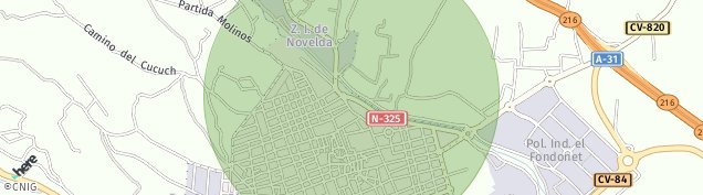 Mapa Novelda