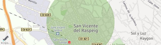 Mapa Sant Vicent del Raspeig