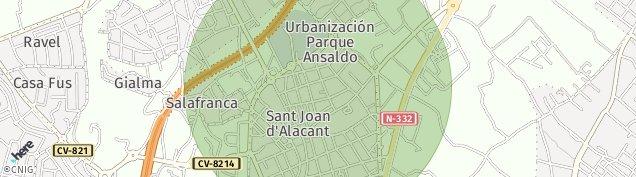 Mapa Sant Joan d'Alacant