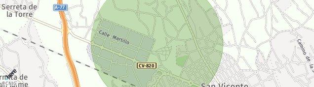 Mapa Sant Vicent del Raspeig