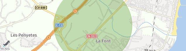 Mapa La Font