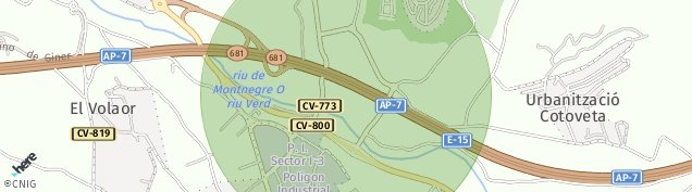 Mapa San Peret