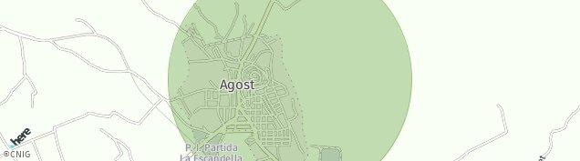 Mapa Agost