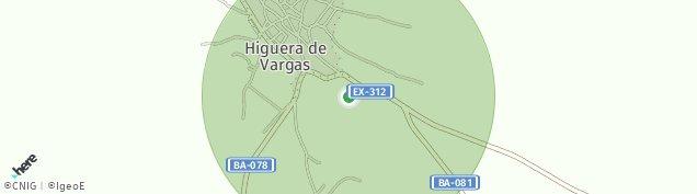Mapa Higuera de Vargas