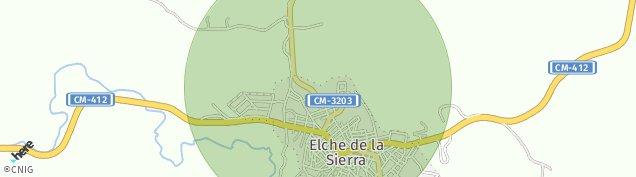 Mapa Elche de la Sierra