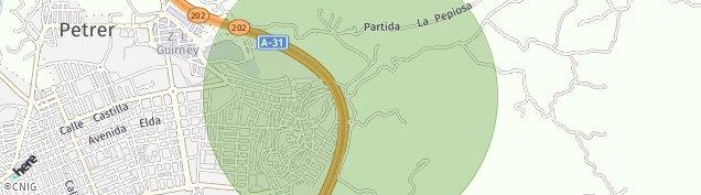 Mapa Petrer