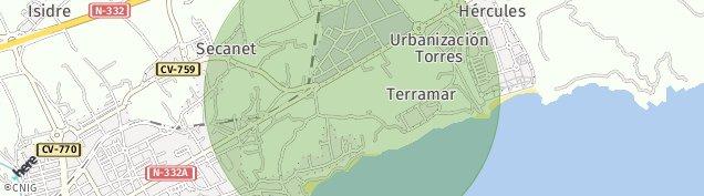 Mapa Secanet
