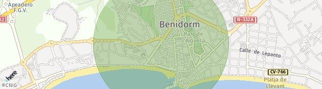 Mapa Benidorm