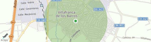 Mapa Villafranca de los Barros