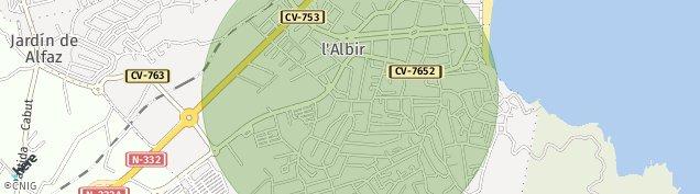 Mapa Nucleo L' Albir