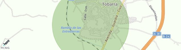 Mapa Tobarra