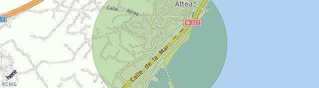 Mapa Altea