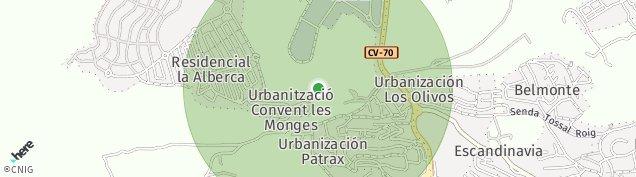Mapa La / Nucia-Hill Nucia Hills
