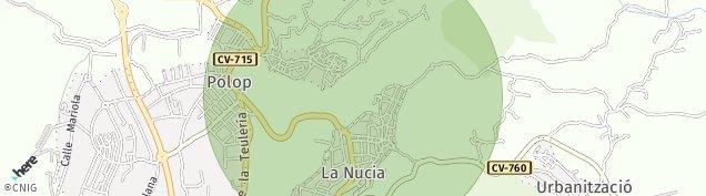 Mapa Polop