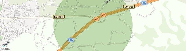 Mapa Tomillar-Sarganella