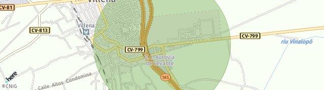 Mapa Villena