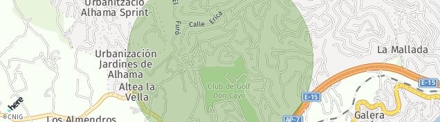 Mapa Altea la Vella