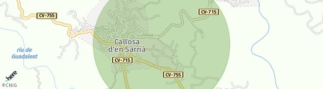 Mapa Callosa d'en Sarria