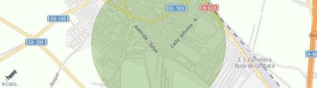 Mapa Almendralejo