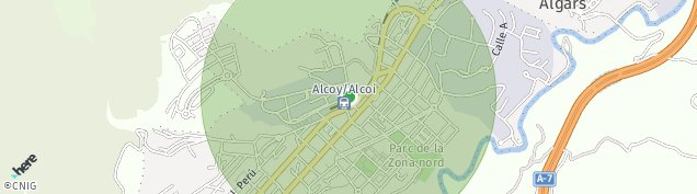 Mapa Alcoy