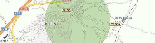 Mapa Benissa