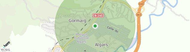 Mapa Algars