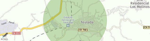 Mapa Teulada