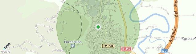 Mapa Cocentaina
